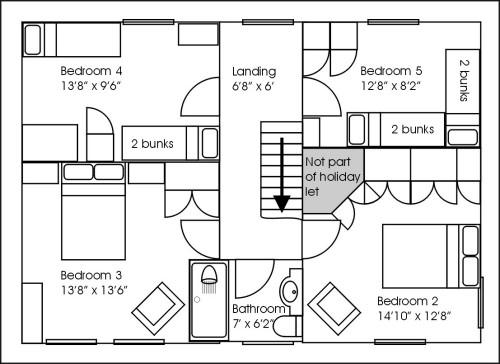The Old Farmhouse First floor floorplan