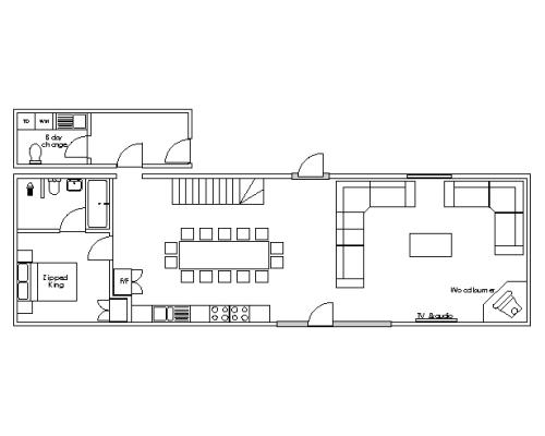 Ysgubor Mawr Ground floor floorpan