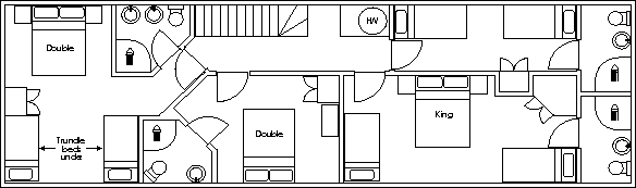 Ysgubor Mawr First floor floorpan